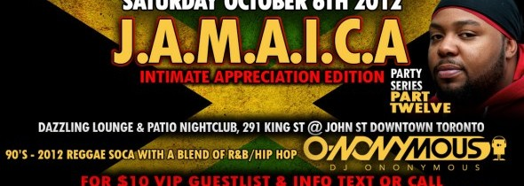 [event] J.A.M.A.I.C.A. pt. 12 @ Dazzling | Thanksgiving Saturday Oct. 6, 2012